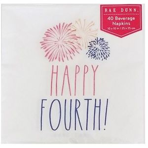 Rae Dunn Happy Fourth Pack Set of Napkins